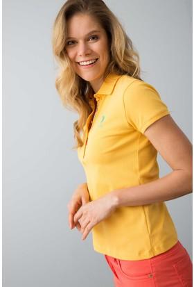 U.S. Polo Assn. Kadın Tp01İy08-011 T-Shirt Hardal