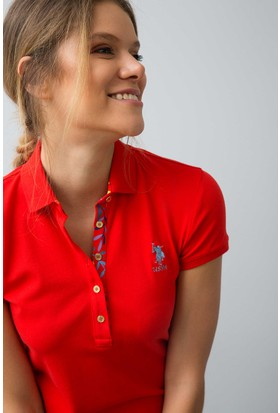 U.S. Polo Assn. Kadın Tp01İy08-011 T-Shirt Kırmızı