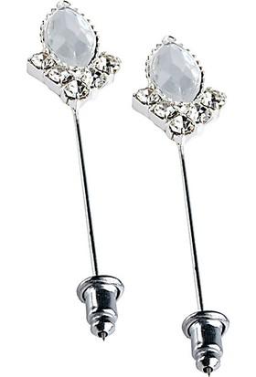 Fsg Takı Gümüş Kaplama Kristal Eşarp ve Şal İğnesi