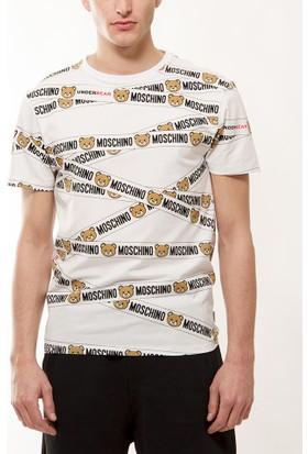 Moschino Erkek Beyaz T-Shirt