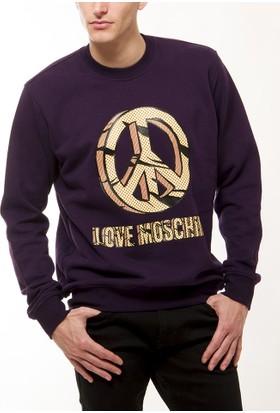 Moschino Erkek Mor Sweatshirt