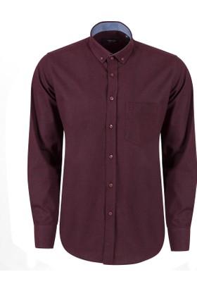 Sabri Özel Model 1500 Uzun Kol Düğmeli Yaka Cepli Gömlek