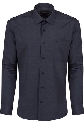 Sabri Özel 3507 Düğmesiz Yaka Cepli Klasik Kesim Gömlek