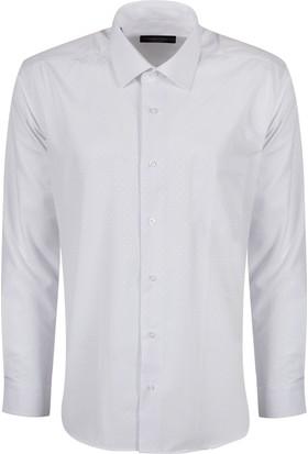 Sabri Özel 3515 Düğmesiz Yaka Cepli Klasik Kesim Gömlek