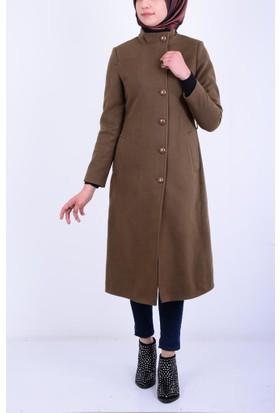Şima Kadın Düz Model Kemerli Kaban 17-2B521010