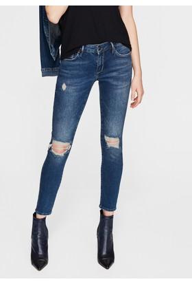 Mavi Kadın Adriana Ankle Yırtıklı Gold Mavi Jean Pantolon