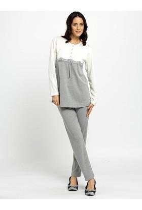Ayyıldız 59505 Yuvarlak Yakalı Pijama Takımı Gri