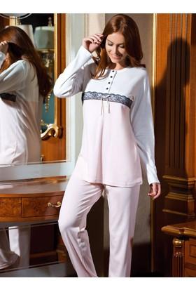 Ayyıldız 59505 Yuvarlak Yakalı Pijama Takımı Açık Pembe
