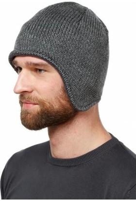 Modamarka-Shop Erkek Örgü Bere İçi Polar Şapka Gri