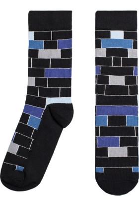 Socks ++ Block Kadın Tasarım Desenli Soket Çorap