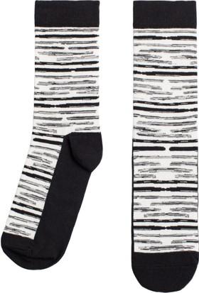 Socks ++ Blurry Kadın Tasarım Desenli Soket Çorap