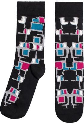 Socks ++ Boxing Kadın Tasarım Desenli Soket Çorap