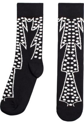 Socks ++ Leafy Kadın Tasarım Desenli Soket Çorap