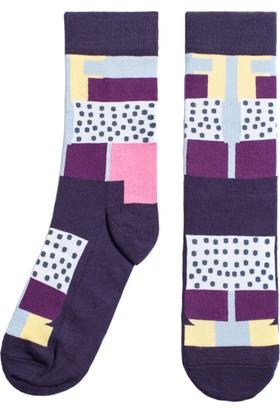 Socks ++ Patchy Kadın Tasarım Desenli Soket Çorap