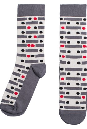 Socks ++ Red Dot Kadın Tasarım Desenli Soket Çorap