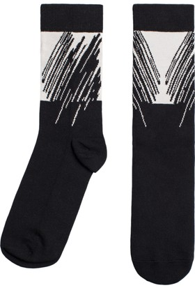 Socks ++ The Aspect Kadın Tasarım Desenli Soket Çorap