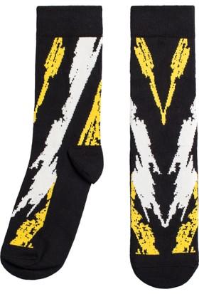 Socks ++ The V Kadın Tasarım Desenli Soket Çorap