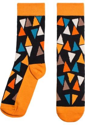 Socks ++ Tri Kadın Tasarım Desenli Soket Çorap