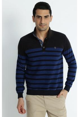 Xint Mcl Polo Yaka Lacivert Sweatshirt