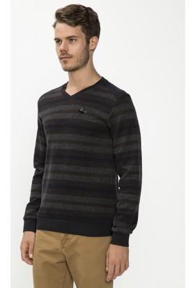 Xint Mcl V Yaka Kahverengi Sweatshirt