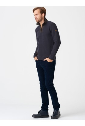 Xint Dik Yaka Kahverengi Sweatshirt