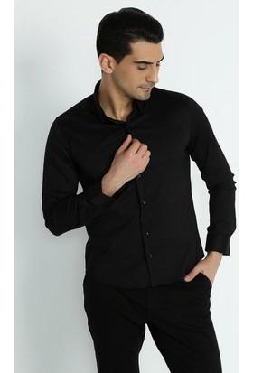 Xint Klasik Yaka Slim Fit Basic Gömlek