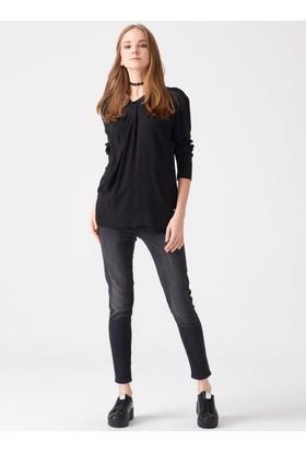 Xint Anvelop Kesim Siyah Gömlek