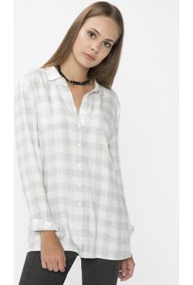 Xint Küçük Yakalı Gri Gömlek