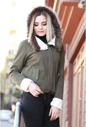 Zemin Giyim Kürklü Mont-1015