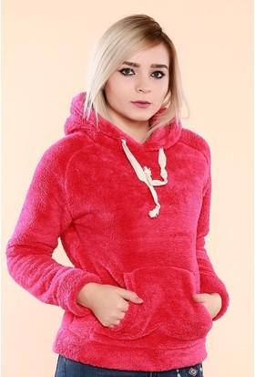 Zemin Giyim Kapüşonlu Kanguru Cepli Peluş Sweat-480
