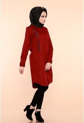 Zemin Giyim Newyork Baskılı Kadın Tunik-540