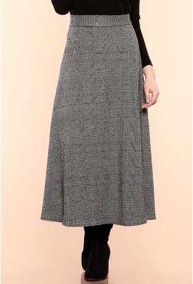 Zemin Giyim Fermuarlı Uzun Etek-2900