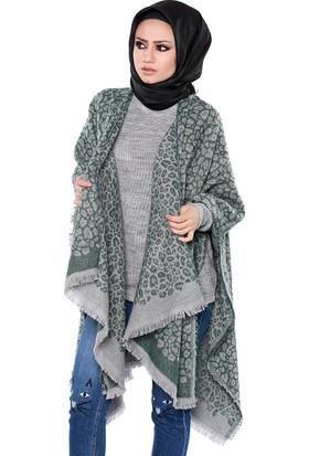 Zemin Giyim Desenli Kalın Kadın Şal-100