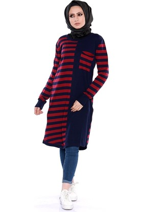 Zemin Giyim İntersia Çizgili Cepli Tunik-1456