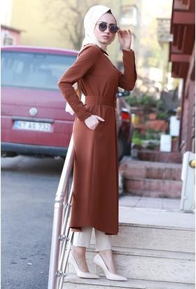 Zemin Giyim Geniş Manşetli Kap-3079