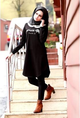 Zemin Giyim Yaka Güpürlü Tunik-4661