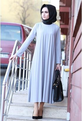 Zemin Giyim Piliseli Elbise-1003