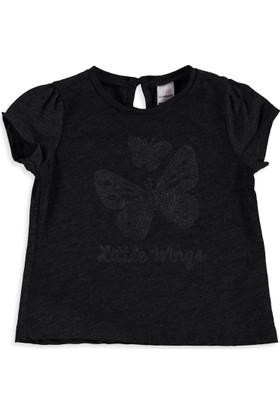 LC Waikiki Kız Bebek Bisiklet Yaka T-Shirt