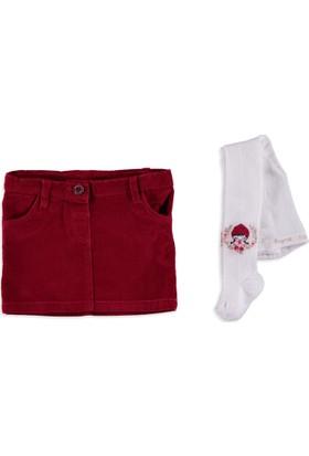 LC Waikiki Kız Bebek Etek Çorap Takımı