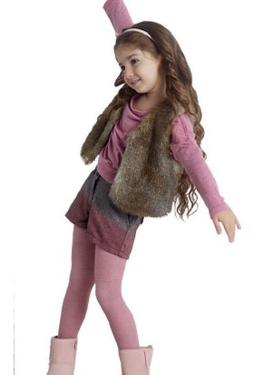Penti Kız Çocuk Angora Yün Mix Külotlu Çorap