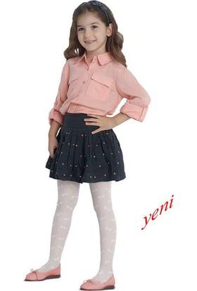 Penti Kız Çocuk Fiyonk Tül Külotlu Çorap