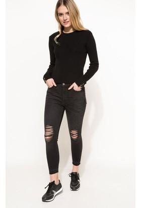 DeFacto Kadın Denim Pantolon Antrasit