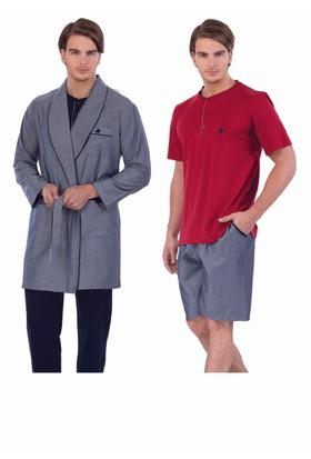 Polo Yorkshire Club 5'li Koton Pijama Takımı