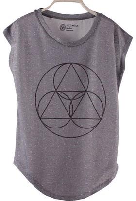 BiggYoga Namaste Gri T-Shirt
