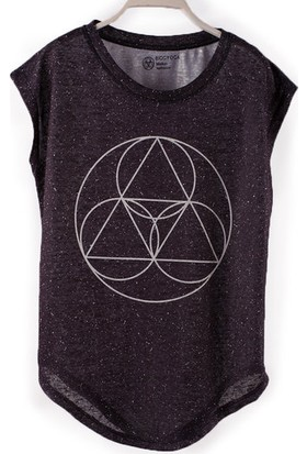 BiggYoga Namaste Antrasit T-Shirt