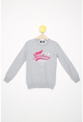 FullaModa Kız Çocuk Baskılı Sweatshirt 18MALAT0013