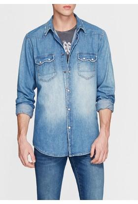 Mavi Erkek Andy Vintage Jean Gömlek
