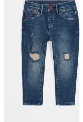 Mavi Kız Çocuk Lara Koyu Yırtıklı Comfort Jean Pantolon