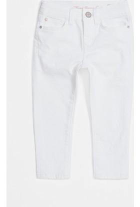 Mavi Kız Çocuk Lara Beyaz Yıldızlı Comfort Jean Pantolon