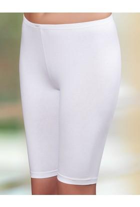 Şahinler Bayan Likralı Süprem Tayt Beyaz Mb798